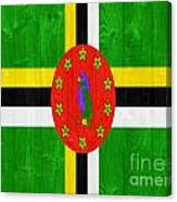 Dominica Flag Canvas Print