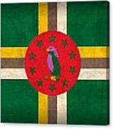 Dominica Flag Vintage Distressed Finish Canvas Print