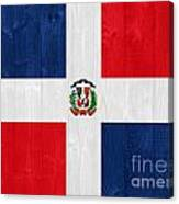 Dominican Republic Flag Canvas Print