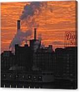 Domino Sugars Sunrise Canvas Print