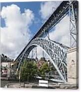 Don Luis Bridge In Oporto Canvas Print