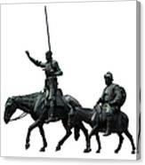 Don Quixote And Sancho Panza  Canvas Print