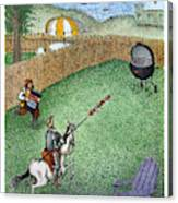 Don Quixote In The Hamptons Canvas Print