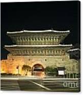 Dongdaemun Gate Landmark In Seoul South Korea Canvas Print