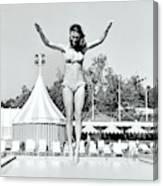Donna Garrett Jumping On Diving Board Canvas Print