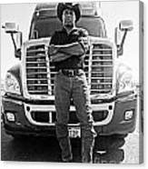 Don't Mess With My Truck Canvas Print