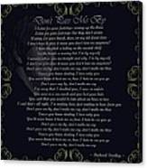 Dont Pass Me By Golden Scroll Canvas Print