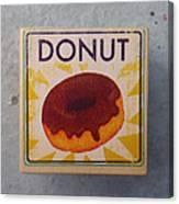 Donut Wood Block Canvas Print