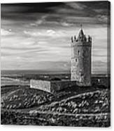 Doonagore Castle Black And White Canvas Print