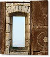 Door And Window Of The Old World Canvas Print