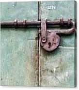 Door Lock Canvas Print