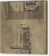 Door Lock Patent Canvas Print