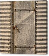 Door On An Old Metal Silo Canvas Print