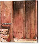 Door Series - Door 11 - Village Of Albanayeh Near Natanz Canvas Print