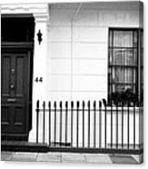 Door Window And Fence Canvas Print