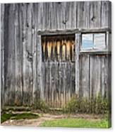 Barn Door With A Window Canvas Print