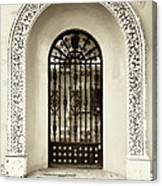 Door With Decorated Arch Canvas Print