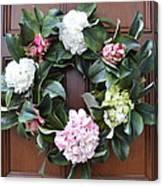 Door Wreath Canvas Print