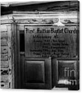 Doors Of Worship Canvas Print