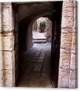Doorway In Old City Jerusalem Canvas Print