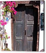 Doorway Oia Santorini Greek Islands Canvas Print