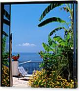 Doorway To Terrace At Hotel Punta Canvas Print
