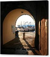 Doorway To The Sea Canvas Print