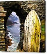 Doorway To The Sea Canvas Print