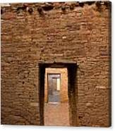Doorways In Pueblo Bonito Canvas Print