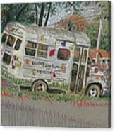 Doodlebugs Bus Canvas Print