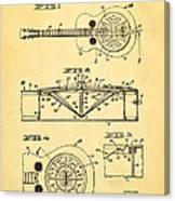 Dopyera Dobro Guitar Patent Art 1933 Canvas Print