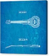 Dopyera Dobro Hawaiian Lap Steel Guitar Design Patent Art 1939 Blueprint Canvas Print