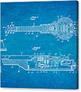 Dopyera Dobro Hawaiian Lap Steel Guitar Patent Art 1939 Blueprint Canvas Print