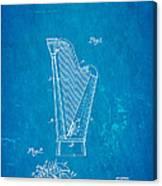 Dopyera Harp Patent Art 1930 Blueprint Canvas Print