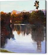 Dorado Waterhole Oil Canvas Print
