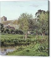 Dorchester Abbey, Near Wallingford, Autumn Evening Canvas Print