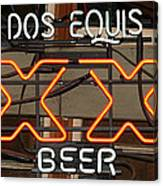Dos Equis Texxas Beer Canvas Print