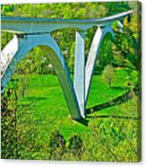 Double-arched Bridge Spanning Birdsong Hollow At Mile 438 Of Natchez Trace Parkway-tennessee Canvas Print