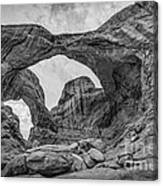 Double Arches Bw Canvas Print
