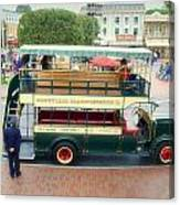Double Decker Bus Main Street Disneyland 02 Canvas Print