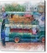 Double Decker Bus Main Street Disneyland Photo Art 01 Canvas Print