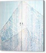 Double Doors To Peaceful Mountain Canvas Print