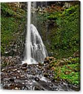 Double Falls In Silver Falls State Park In Oregon Canvas Print