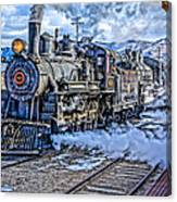 Double Header Nevada Northern Railway #1 Canvas Print