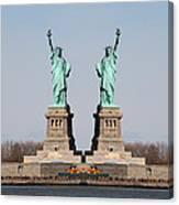 Double Libertys Canvas Print