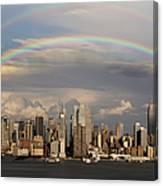 Double Rainbow Over Nyc Canvas Print