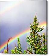 Double Rainbow Sky Canvas Print