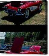Double Red Corvette Canvas Print