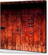Double Studded Wood Doors Canvas Print