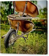 Double Wheelbarrow Canvas Print